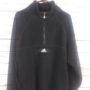 ADIDAS Pullover Mens Size L Thick Fleece Black